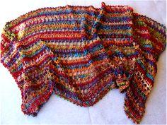 Lacy crocheted shawl pattern