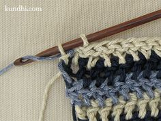 how to: crochet or knit single row stripes without weaving in all those ends!