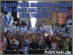Of course lame-stream media is not covering this pro Israel rally in New York city.