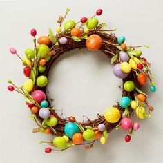 Speckled Easter Egg Wreath - DIY idea