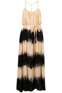 Black beige dress