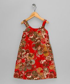 Red Flower Dress - Toddler & Girls