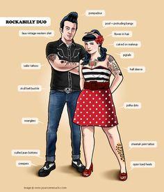 #hipster #humor #geek #rockabilly couple hahaha...love it! hipster, pin, rockabilli style, rockabilli coupl, the dress, scene, rockabilli duo, rockabilly, dress styles