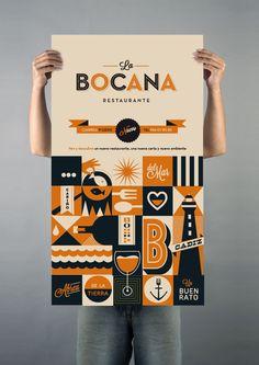 La Bocana by Raul Gomez estudio, via Behance