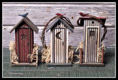 Fairy Outhouse  ********************************************  FoxSpecialty - #fairy #garden #gardens #miniature #miniatures #fairies #whimsical #whimsy #outhouse - tå√