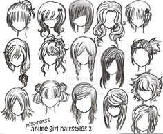 Female anime hairstyles by miriamdreesbach on deviantart Bun wedding hairstyles wedding hairstyles zimbio