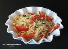 Capellini al Fresco with fresh tomatoes and basil.