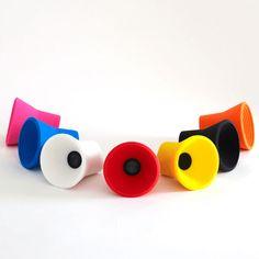 rad little speakers toys, loud speaker, speaker project, purehomecom, speaker idea, kakkoii, speakers, homes