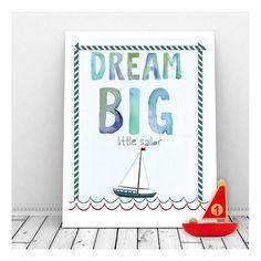 Dream Big Little Sailor  Instant Digital Download by CallMeArtsy, $5.00