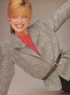 """""""A Suit : The Strongest Starting Point"""", Vogue US, February 1983 Photographer : Oliviero Toscani Model : Kelly Emberg"""