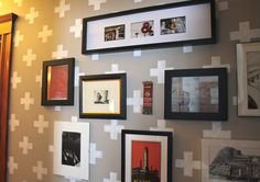 Cross stencil or stamp accent wall