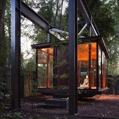 beautiful outdoor meditation room