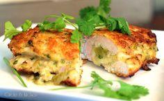 artichoke and spinach stuffed chicken