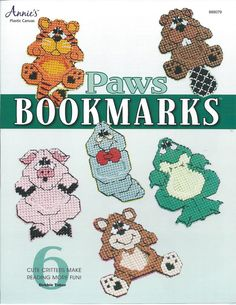 Paws Bookmarks Plastic Canvas Patterns by needlecraftsupershop, $5.99