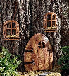 Weatherproof Elfin Tree Door And Accessories with...