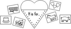 H is for-Beginning Sound Activity - repinned by @PediaStaff – Please Visit http://ht.ly/63sNt for all our pediatric therapy pins letter