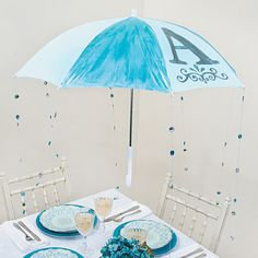 Baby Shower Umbrella Decoration - OrientalTrading.com