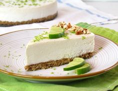 "Raw Vegan Key Lime ""Cheesecake""  made with macadamia nuts"