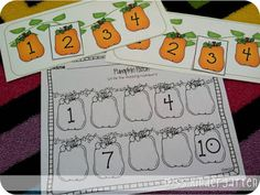 Miss Kindergarten: Fall Math and Literacy Centers