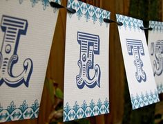 Let's Celebrate Paper Garland Party Banner great decor by Earmark, $ 15.00