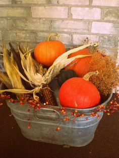 My front porch fall decor