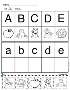 Matching Alphabet Picture Freebie.