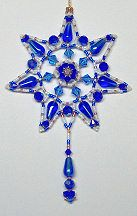 Cobalt Starburst Ornament by Charlotte Holley - Beaded Legends by Chalaedra