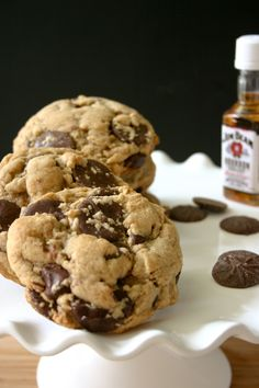 Brown Butter Bourbon Chocolate Chip Cookies.