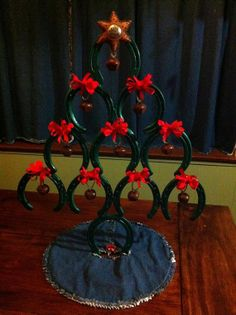 Rustic Horseshoe Christmas Tree on Etsy, $65.00