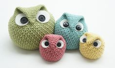 Ravelry: Chubby Owl Family pattern by Tara Schreyer - pattern available