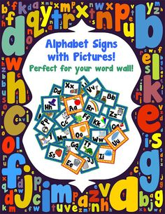 FREE – alphabet letters – They each have a picture for the sound of the letter & the vowels even have a different color