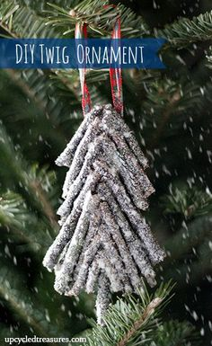 DIY twig Christmas ornament   From Upcycled Treasures