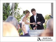"wine ceremony ""sharing""...another version mothers each pour wine into glass and couple drinks from it"