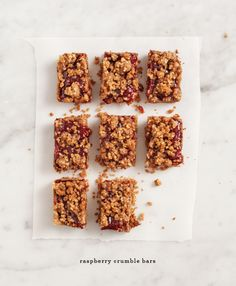 raspberry crumble bars. make these with my gluten free flour and honey.