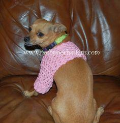 Posh Pooch Designs Dog Clothes: Small Dog Shrug Crochet Pattern