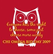 Chi Omega ~ Bid Day