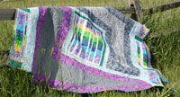 Tilework by Karen Gibbs in Best Fat Quarter Quilts 2014.