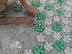 Use bottle bottoms as pavers!