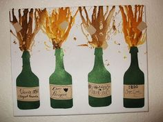 Awesome idea for melted crayon art!