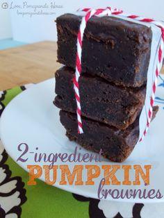 2-Ingredient Pumpkin Brownies