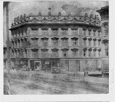 Nucleus Hotel, corner 3rd and Market Streets, San Francisco, California, 1866