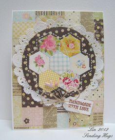 quilt pattern using hexagon dies Love this layout