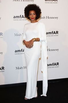 Solange knowles at cannes festival | Solange Knowles 2012 Style - Solange Knowles - Zimbio.  Classic white