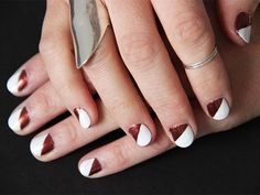 Easy DIY Fall Manicure >> http://blog.diynetwork.com/maderemade/how-to/easy-diy-summer-to-fall-manicure/?soc=pinterest
