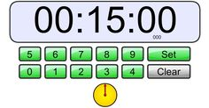 Classroom Timer! Love it for SMARTboard!