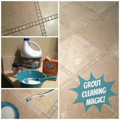 how to clean grout so it sparkles   # Pinterest++ for iPad #