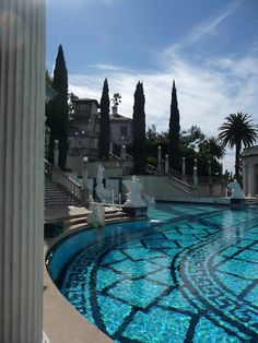 Outdoor Neptune swimming pool at Heart Castle