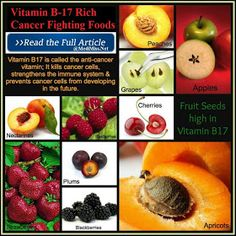 Vitamin B-17 Rich Cancer Fighting Foods