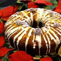 """Olive Oil Cranberry Bundt Cake 