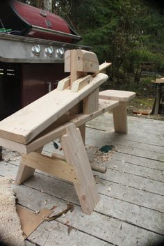 My new shaving horse for making staves
